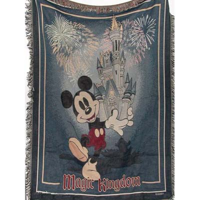 Disney Throw Blanket Mickey And Cinderella Castle