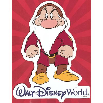 Your WDW Store - Disney Auto Magnet - Grumpy Dwarf