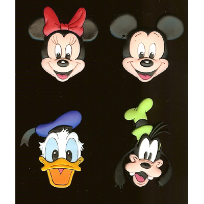 Disney Magnet 4 Pack Mickey Minnie Mouse Goofy Donald Duck