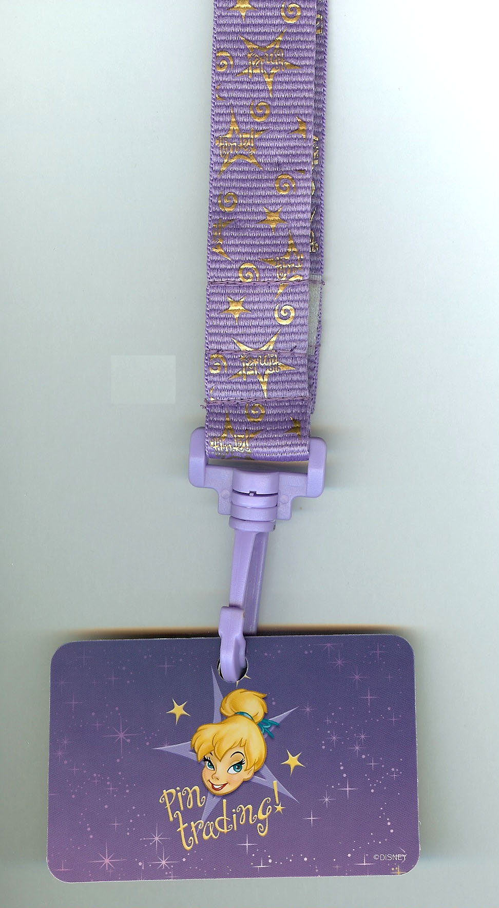 Disney Lanyard - Tinker Bell - Purple with Stars