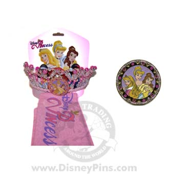Disney Pincess Trading Sash and Pin Crown