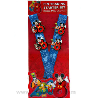 Disney Pin Starter Set - Dated 2008