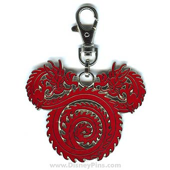 Disney Lanyard Medal - Mickey Icon - Dragon