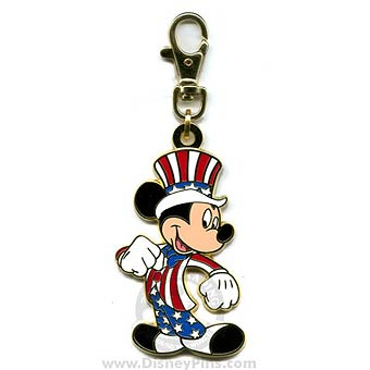 Disney Lanyard Medal Uncle Sam Mickey Mouse