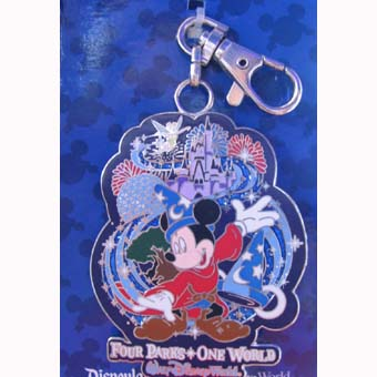 Disney Lanyard Medal - Mickey Mouse - 4 Parks 1 World