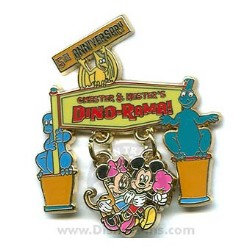 Disney Chester and Hester's Dino-Rama Pin - 5th Anniversary