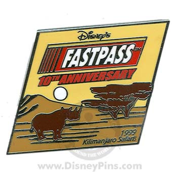Disney Fastpass Pin - 10th Anniversary