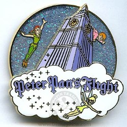 Disney Peter Pan's Flight Pin - Attraction Logo