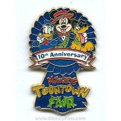 Disney Mickey's ToonTown Fair Pin - 10th Anniversary