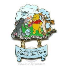 Disney The Many Adventures of Winnie the Pooh Pin - Attraction Logo