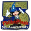 Disney Attraction Pin - Mickey's PhilharMagic 5th Anniversary
