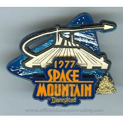 Disney Magical Milestones Pin - 1977 - Space Mountain Opens