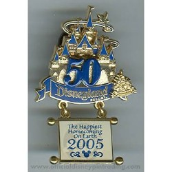 Disney Magical Milestones Pin - 2005 - Happiest Homecoming On Earth