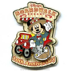 Disney Resort Pin - Disney's Boardwalk - 10th Anniversary