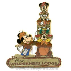 Disney Resort Pin - Wilderness Lodge - Character Totem Pole