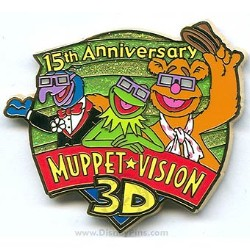 Disney Muppet Vision 3D Pin - 15th Anniversary