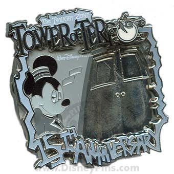 Disney Tower Of Terror Pin 15th Anniversary Mickey
