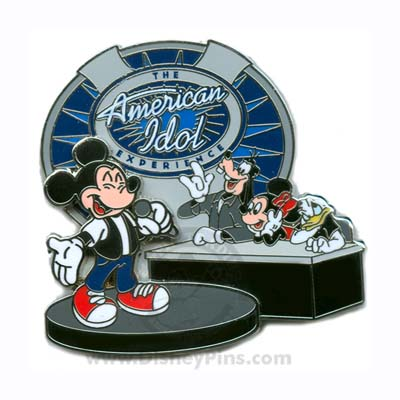 Disney The American Idol Experience Pin - Mickey and Friends