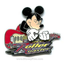 Disney Rock 'N Roller Coaster Pin - Mickey Mouse on Guitar