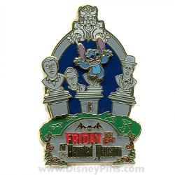 Disney Friday the 13th Pin - The Haunted Mansion - Stitch
