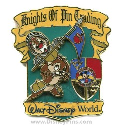 Disney Knights of Pin Trading Pin - Chip and Dale
