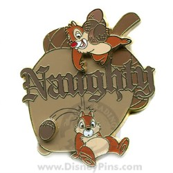 Disney Chip and Dale Pin - Naughty