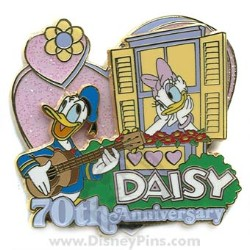 Disney Daisy Duck Pin - 70th Anniversary