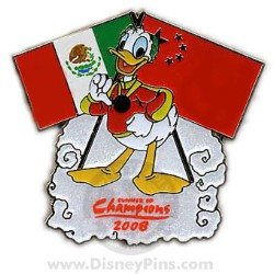 Disney Summer of Champions Pin - Donald Duck - Mexican & Chinese Flag