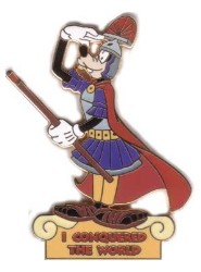 Disney Pursuit Pin - I Conquered The World - Goofy