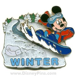 Disney Mickey Pin - Winter