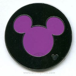 Disney Hidden Mickey Pin - 2006 Collection - Mickey Mouse Purple Icon