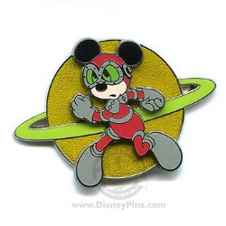 Disney Mickey Pin - Retro Astronaut Mickey