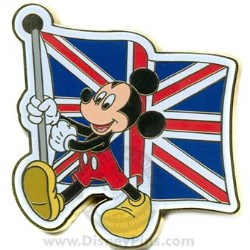 Disney Mickey Pin - British Flag