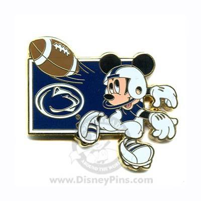 Disney Mickey Pin Ncaa Football Penn State