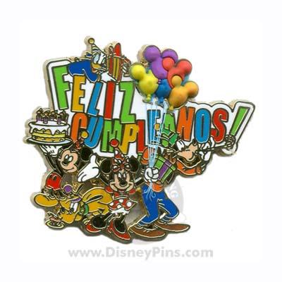 Disney Feliz Cumpleanos Pin Mickey And Friends