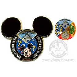 Disney Create-A-Pin - What In the World Will We Do Today?