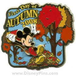 Disney First Day of Autumn Pin - 2008 - Mickey Mouse