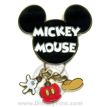 Disney Mickey Pin - Body Part Dangles
