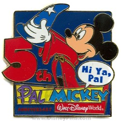 Disney Pal Mickey Pin - 5th Anniversary