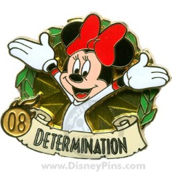 Disney Summer of Champions Pin - Determination - Minnie Mouse