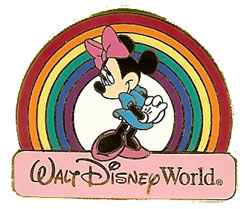 Disney Minnie Pin - Rainbow