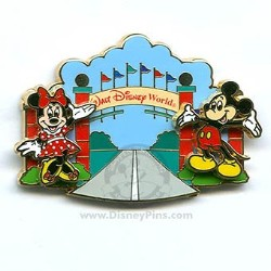 Disney Pursuit Pin - Magical World of Transportation - Entrance Sign