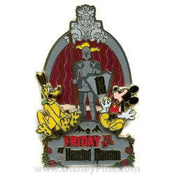 Disney Friday the 13th Pin - The Haunted Mansion - Mickey and Pluto