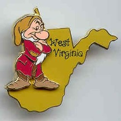 Disney Grumpy Pin - State Program Pin - West Virginia