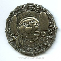 Disney Pirates Pin - Disney Characters - Pirate Stitch Coin