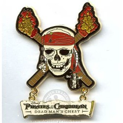 Disney Pirates Pin: Dead Man's Chest - Skull Logo