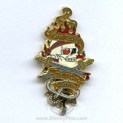 Disney Pirates Pin - Dead Men Tell No Tales Jeweled Skull
