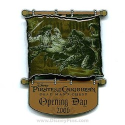 Disney Pirates Pin - Dead Man's Chest - Opening Day