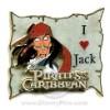 Disney Pirates Pin - I Love Jack - Animated