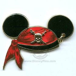 Disney Mickey Ears Hat Pin - Pirates of the Caribbean